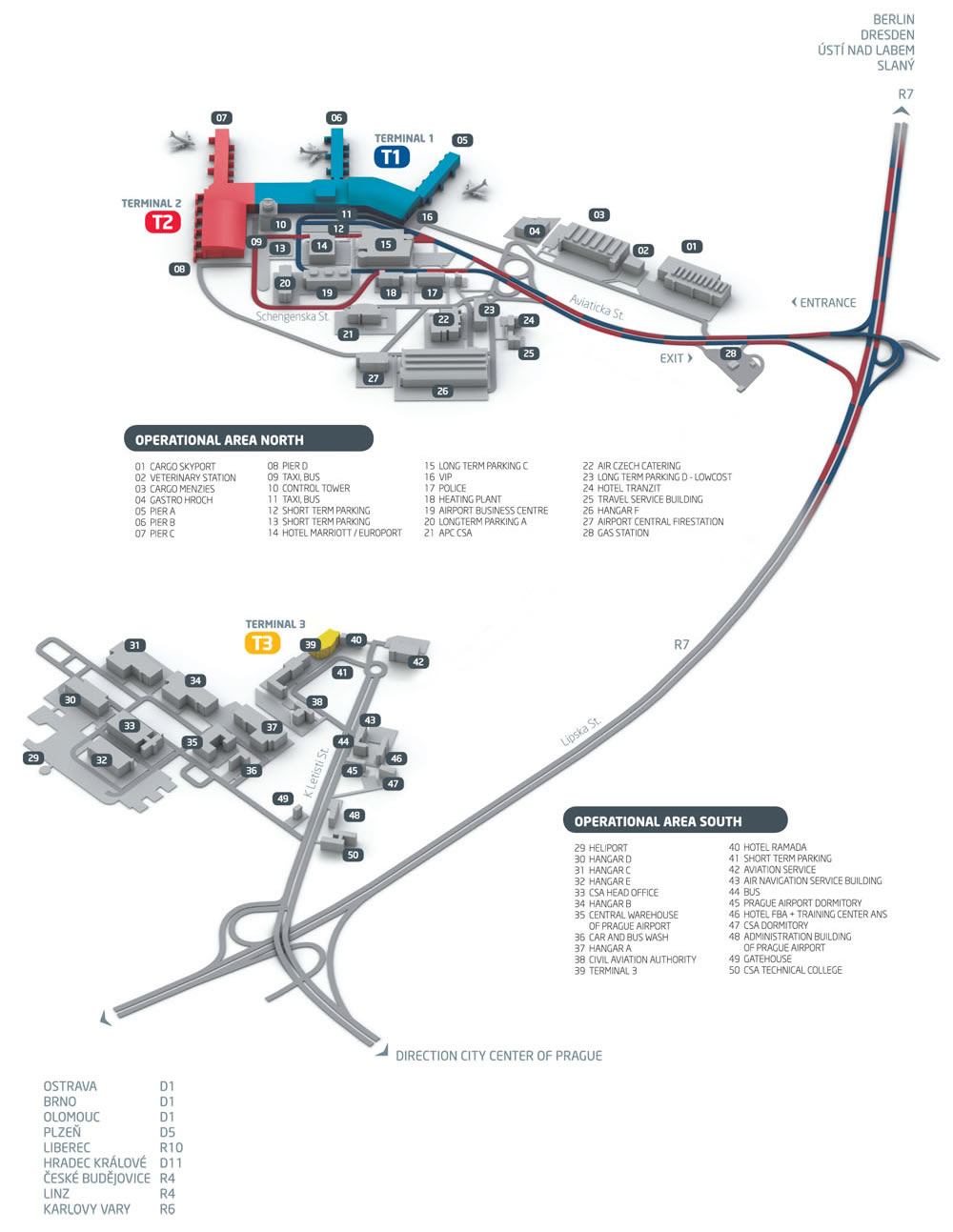 Prague Airport Map Prague Airport Map