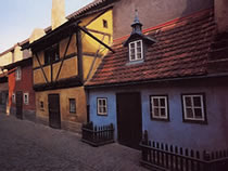 Golden Lane at Prague Castle, Castle District, Prague 1