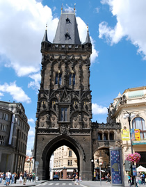 Powder Gate, Old Town, Prague 1