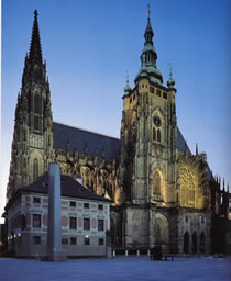 St. Vitus Cathedral at Prague Castle, Castle District, Prague 1