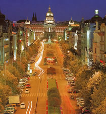 Wenceslas Square in Prague