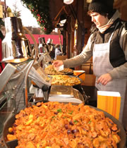 Christmas market food