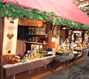 drinks hut at the Prague Christmas markets