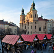 Stalls at the Prague Christmas Markets