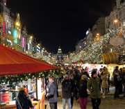 Prague Christmas markets at Wenceslas Square