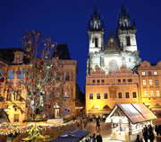 Prague Easter market at Town Old Square