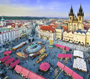 Prague Easter markets at Old Town Square