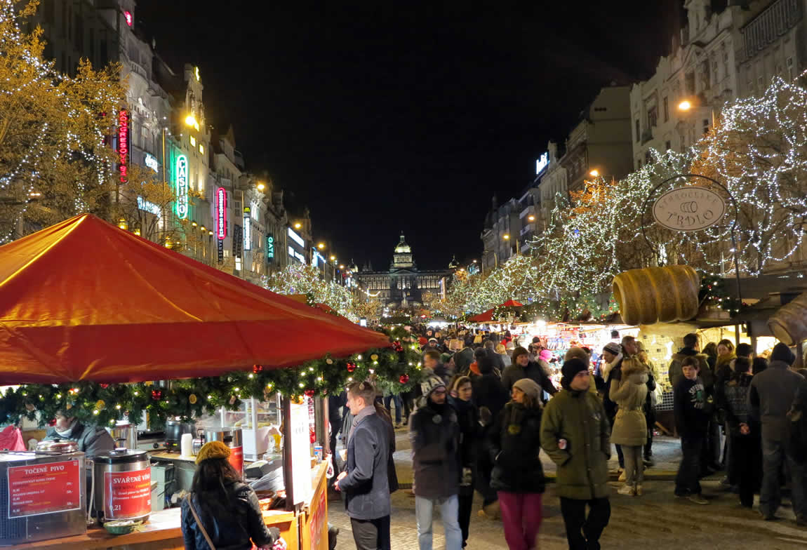 prague christmas markets at wenceslas square wenceslas square markets